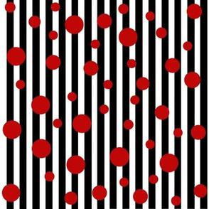 Dragons n Dots Black Stripes Red Dots