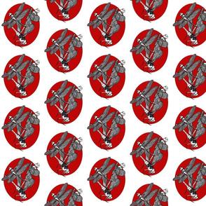 Dragons n Dots Madallion Red n White