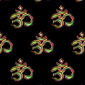 Om  Multicolour Half Drop Textile Print