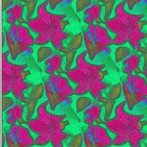Spring Floral Textile Print