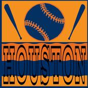 Houston Astros Baseball Team Colors Ball and Bats