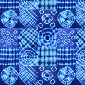 shibori nine-square sampler