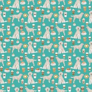 golden doodle fabric (TINY) coffee fabric latte design doodle fabric