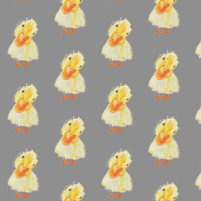 ducky on lt grey background