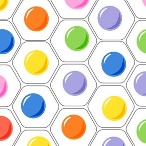 colorful abstract eggs on white