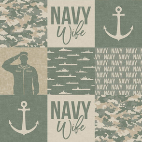 Navy Wife - Military Wife Patchwork - OG light  -  LAD19