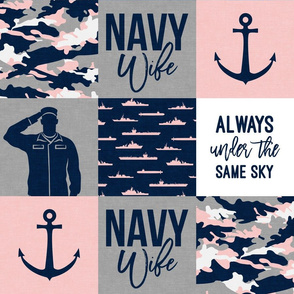 Navy Wife - Always under the same sky - navy and pink  -  LAD19