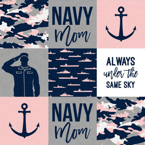 Navy Mom - always under the same sky - pink and navy - LAD19