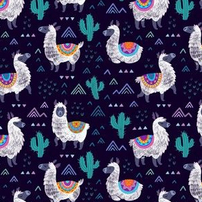 Mexican llamas_night