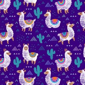 Mexican llamas_neon purple