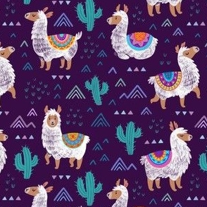 Mexican llamas_purple