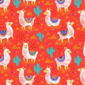 Mexican llamas_red