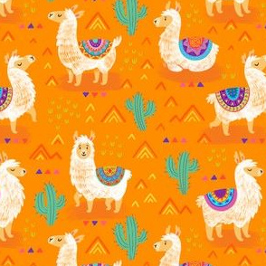 Mexican llamas_orange