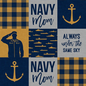 Navy Mom - always under the same sky - gold and navy - LAD19