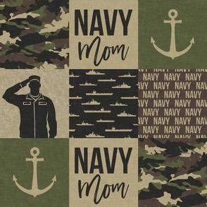 Navy Mom - military patchwork  - OG  - LAD19