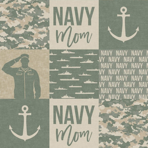 Navy Mom - military wholecloth - OG light - LAD19