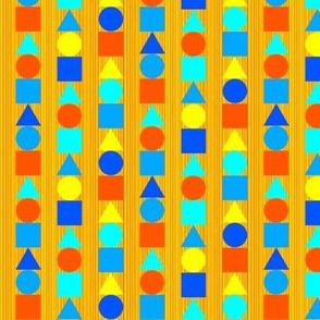 Orange and Blue Circle Square Triangle