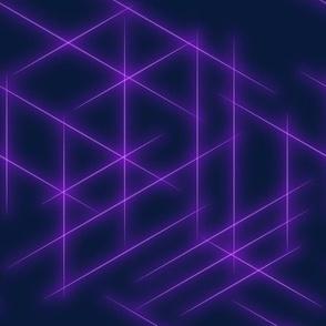 Neon beams-Purple faded