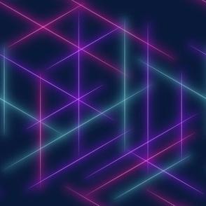 Neon beams-Multicolour faded