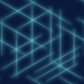 Neon beams-Blue faded