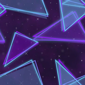 Neon triangles-Blue and purple