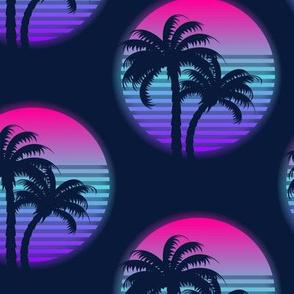 Neon palm trees-Multicolour