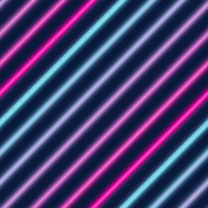 Neon diagonal stripe-Pink and blue
