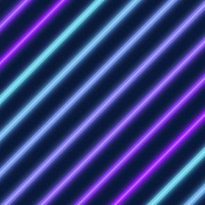 Neon diagonal stripe-Blue and purple