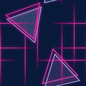 Neon triangle-Pink and blue