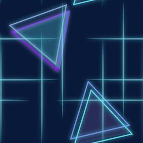 Neon triangle-Blue