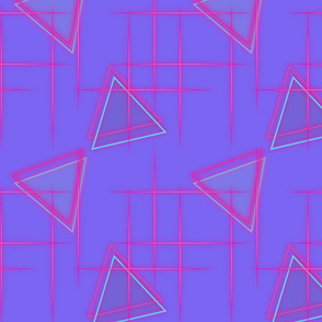 Neon triangle-Pink and purple