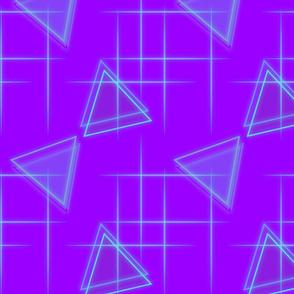 Neon triangle-Purple