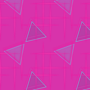 Neon triangle-Pink