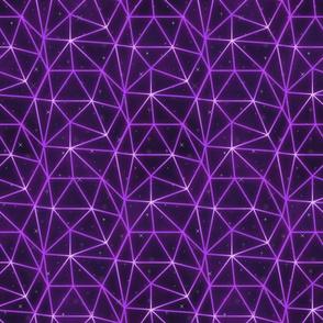 Neon triangle grid-Purple