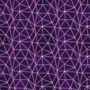 Neon triangle grid-Pink