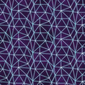 Neon triangle grid-Blue