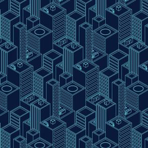 Neon city-Blue