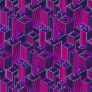Neon city-Outline glow
