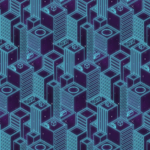 Neon city-Blue glow