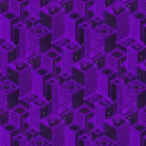 Neon city-Purple glow