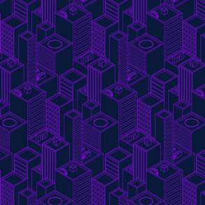 Neon city-Purple