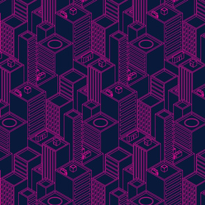 Neon city-Pink