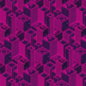 Neon city-Pink glow