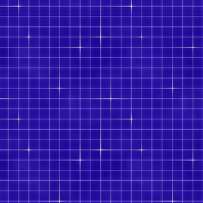Neon grid-Electric blue