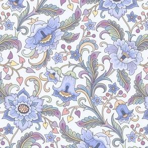 floral garden blue