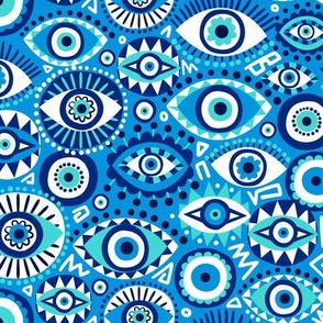 Evil eye blue