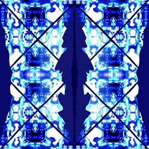 Seam Dye / Shibori  Sooooo  Blue  - Abstract