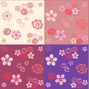 Floating Floral Patchwork Quilt