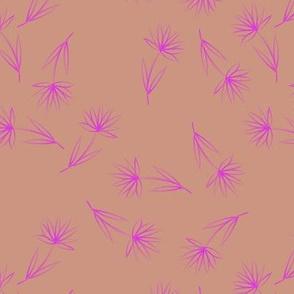 Pink Flowers on Brown