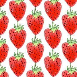Watercolor-Strawberry-Spoonflower